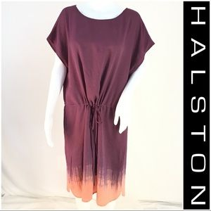 NWOT Halston Purple & Orange Ombré Dress